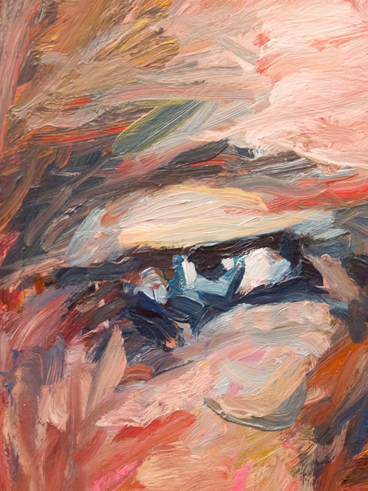 La pythie - close-up. Oeil bleu.