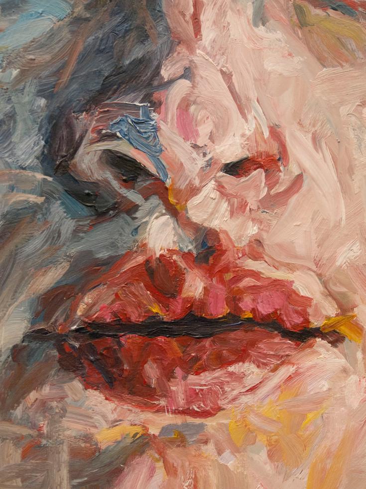 La pythie - close-up. bouche et nez.