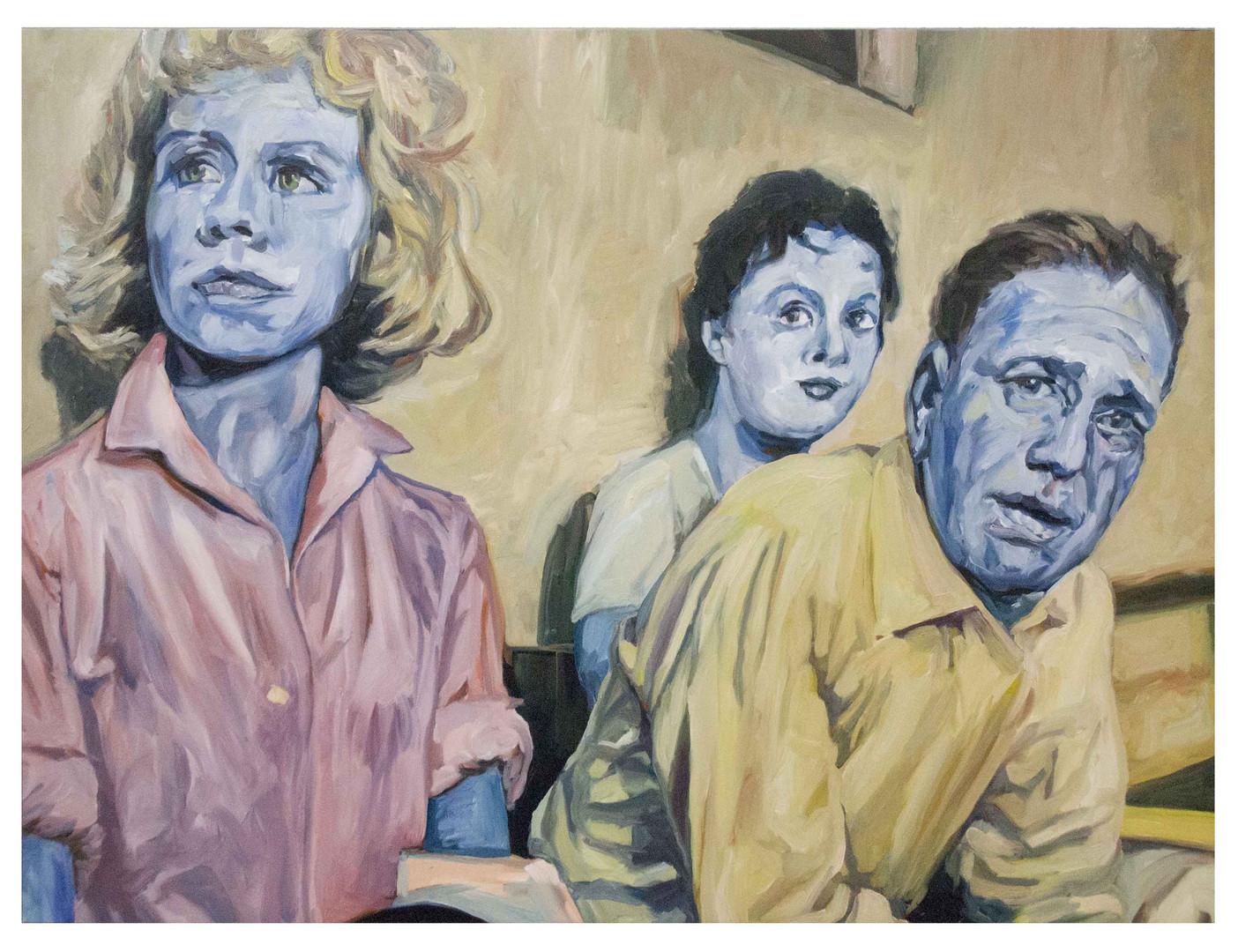 Beat-the-devil.Huile sur toile.  Format : 130x 97 cm. L'image du tableau vient d'une photographie de presse.