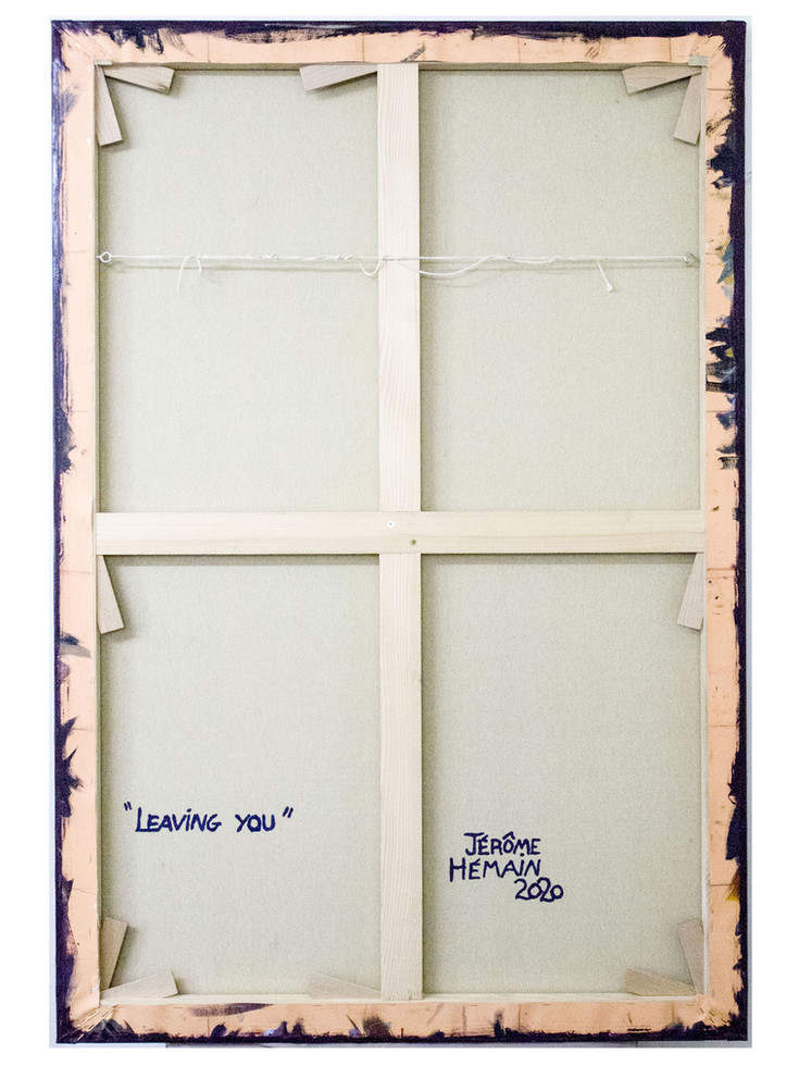 Dos-chassis-leaving you. 130 x 89 cm.