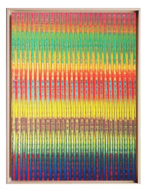 lien04. Format: 92 x 73 cm - Peinture laque  - TTSCPA