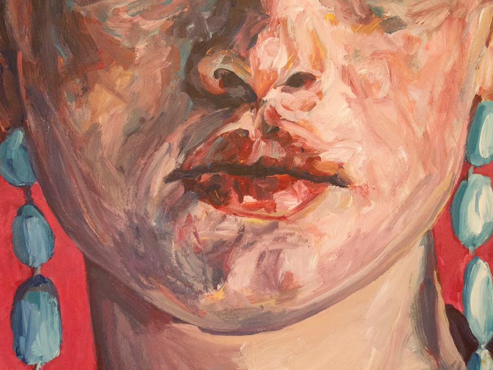 Close-up - La Pythie (acrylique)