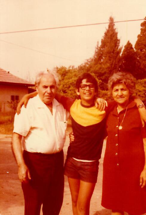 עם סבתא עדה וסבא חיים
