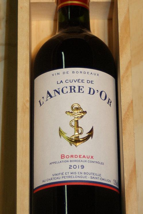 Cuvée de l'Ancre d'or - coffret bois - AOC Bordeaux 2019