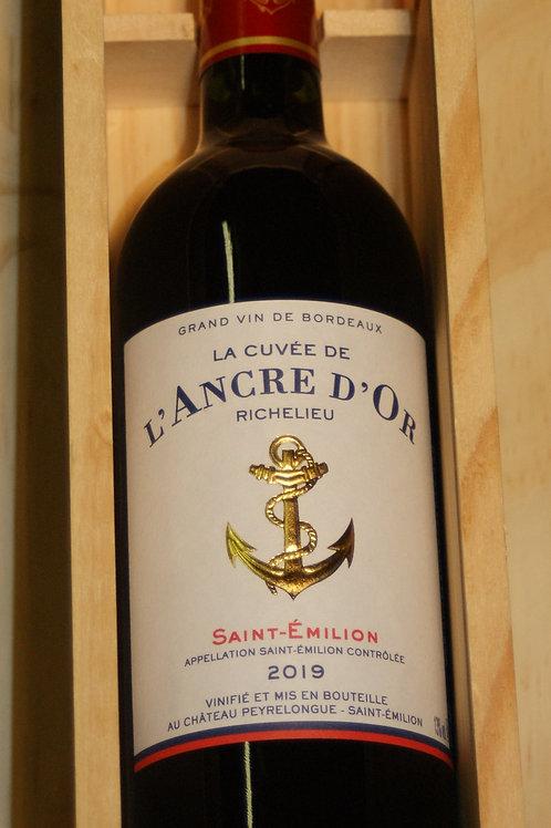 """Cuvée de l'Ancre d'or """"RICHELIEU"""" - coffret bois -  AOC Saint-Emilion 2019"""