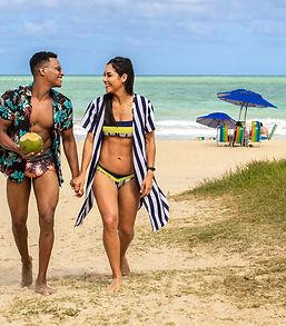 casal na praia, Hotel Manibu Recife, Boa