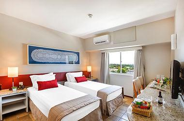 quarto standard duas camas solteiro, con