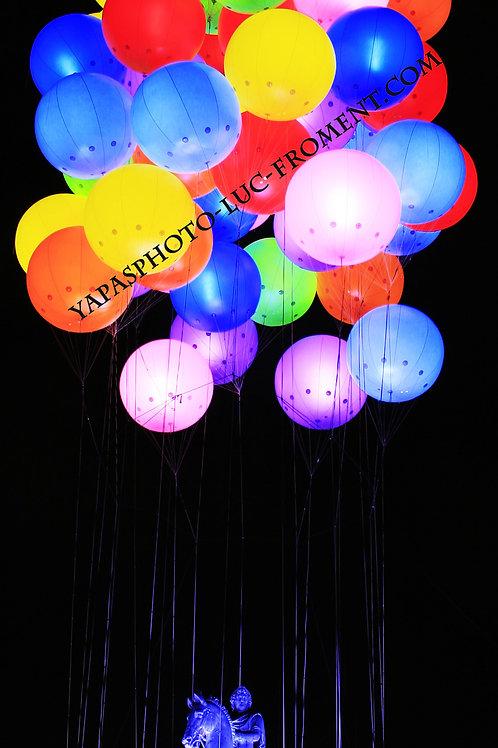 Ballons portrait 90 cms par 35 cms