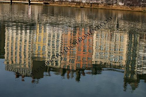 Reflets saône jour : 110 cms par 67 cms