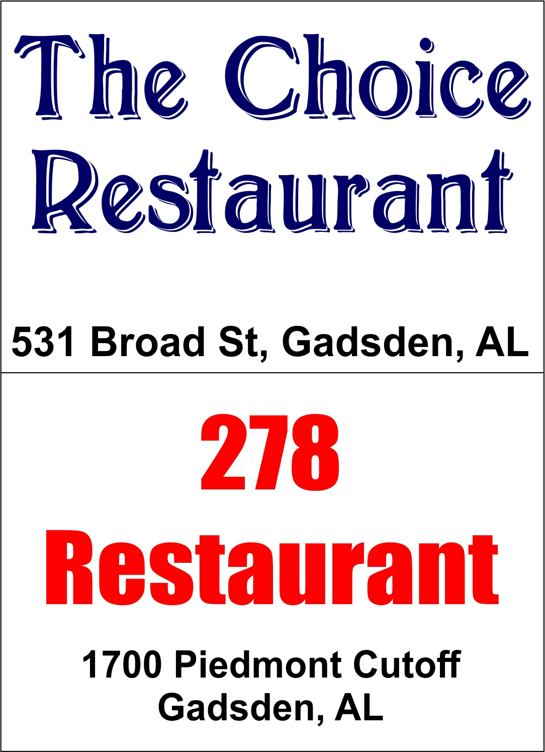 the choice and 278