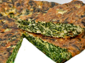 Going with the flow - easy does it with Spinach Frittata