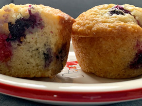Muffins that celebrate...Raspberry & Blueberry Muffins