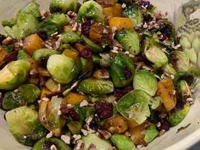 Thanksgiving Sides - Brussels Sprouts,  Squash & Cranberries