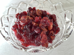 Thanksgiving Sides - Take 2: Cranberry Walnut Sauce with an Orange Twist
