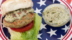 Summer is here - time for Chicken Pesto Burgers!