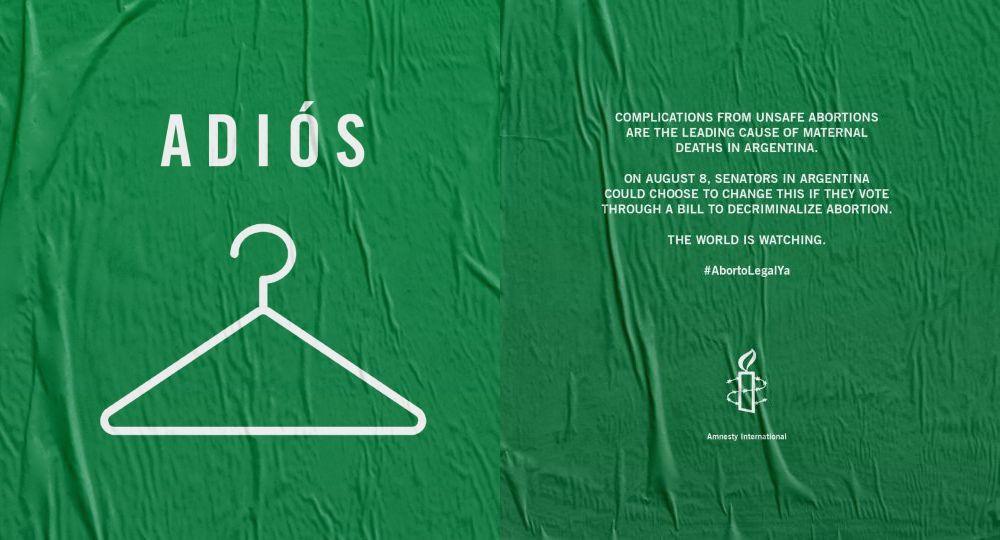 NY Times pour l'IVG en Argentine. Amnesty international
