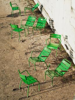 chaises-paris-vert--photographie-mural-decoration-laura-lago