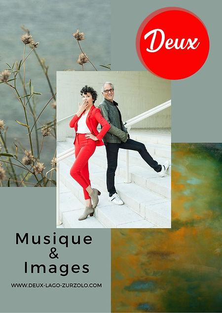 Deux, Concert Piano et voix de Laura Lago et Angelo Zurzolo, DEUX. Musique de l'Amérique Latine. Exposition d'Art. Paris, France