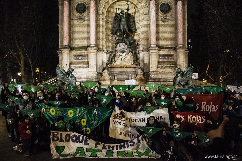 Photo prise le 10 décembre par Laura Lago, photographe argentine à Paris.