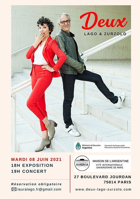 Concert Piano et voix de Laura Lago et Angelo Zurzolo, DEUX. Musique de l'Amérique latine. Paris, France