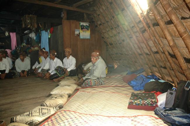 Inside Waerebo house