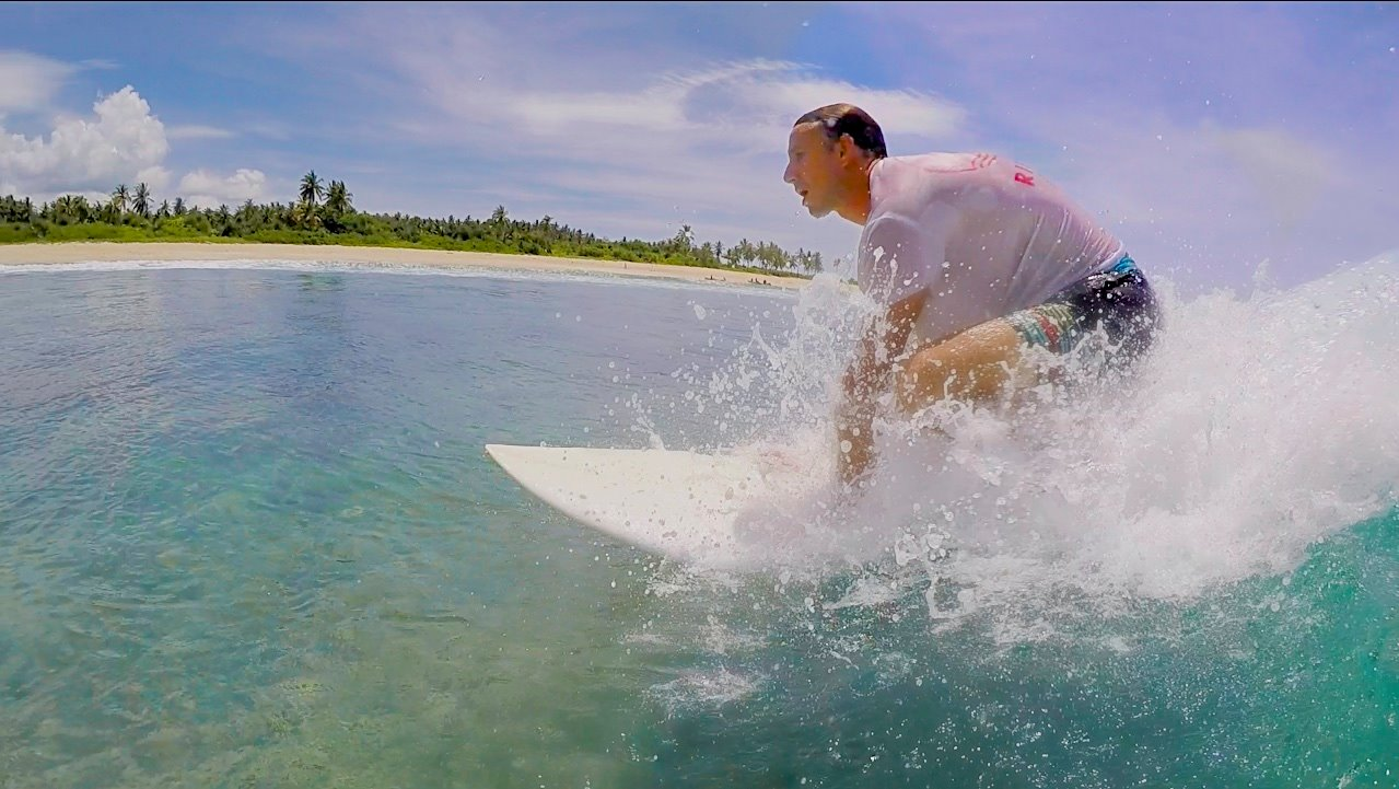 Surfing in Watukaka Resort