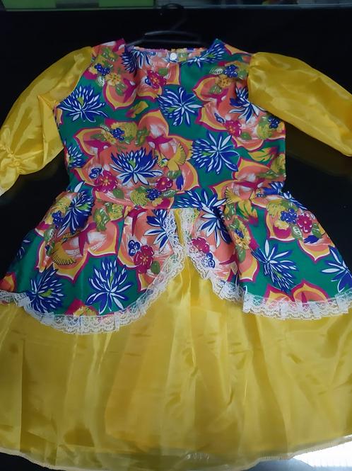 Vestido Festa Junina Tamanho 12