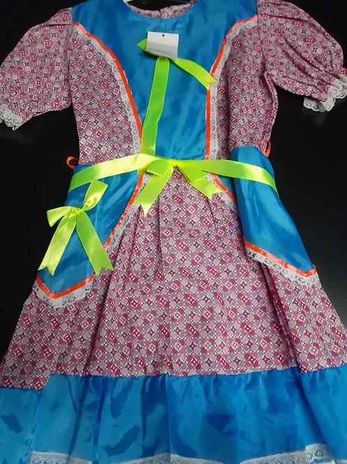 Vestido Festa Junina Infantil tamanho G