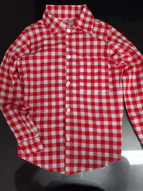 Camisa Festa Junina Infantil Tamanho 12