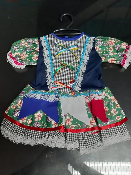 Vestido Infantil Festa Junina Tamanho 2