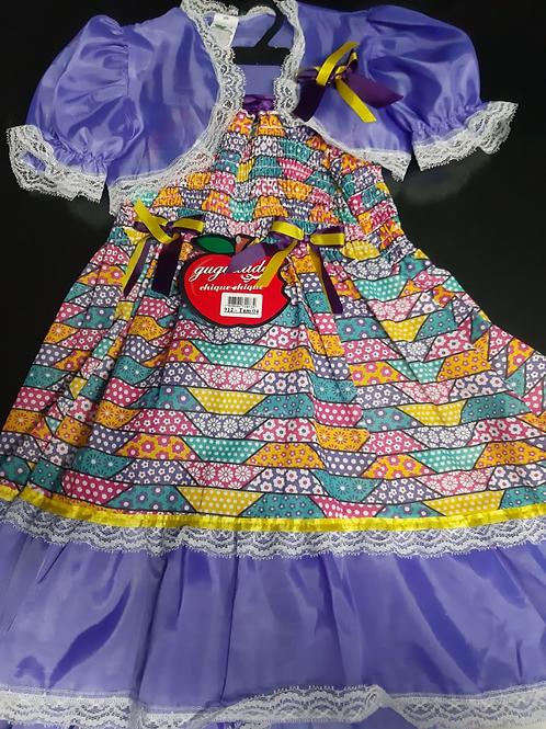 Vestido Festa Junina Infantil Tamanho 4