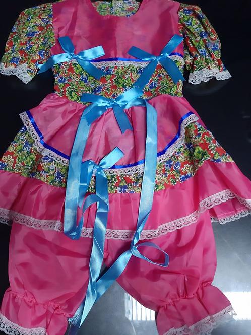 Vestido Infantil Festa Junina Tamanho P