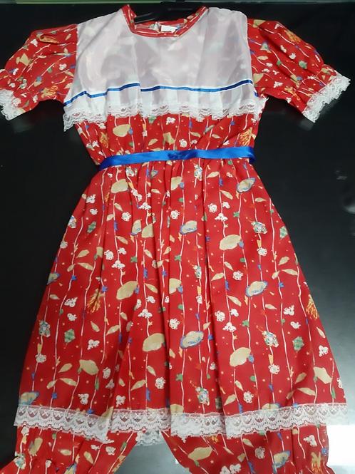 Vestido Infantil Festa Junina Tamanho M