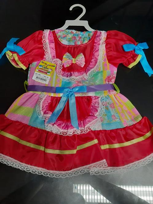Vestido Festa Junina Infantil Tamanho 01