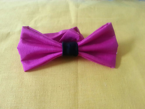 Light Up my Night Bow Tie in Mulberry
