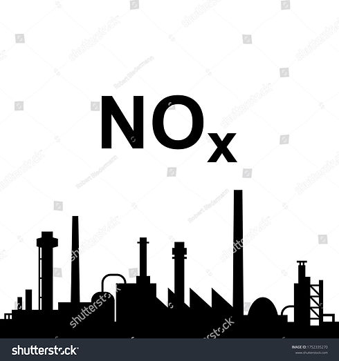 stock-vector-nitrogen-oxides-and-industr