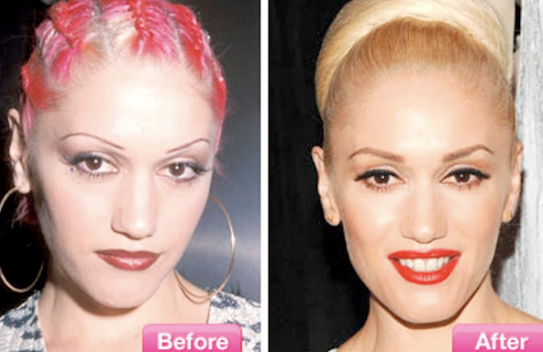 Gwen Stefani 90s eyebrows