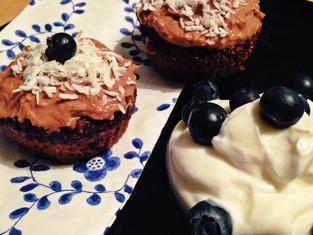 Vegan Chocolate, Coconut & Chia Cupcakes