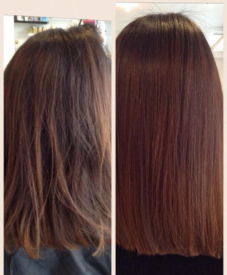 Brazilian Blowout before & after pic