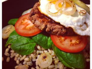 Delicious Bunless Hamburger
