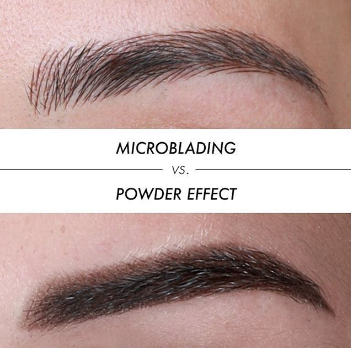 microblading vs. powder effect