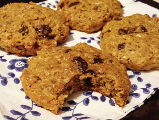 Totally Bananas Peanut Butter & Chocolate Chip Protein Cookies