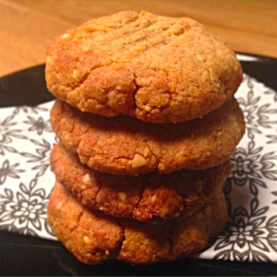 15 min. peanut butter protein cookies