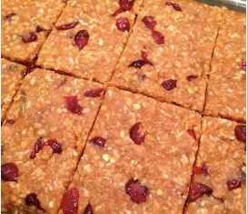 Peanut Butter, Coconut & Cranberry Protein Bars