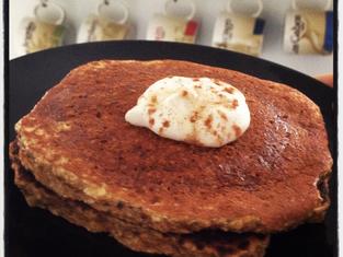 Pumpkin Coconut Protein Pancakes
