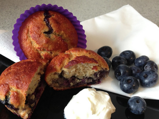 Awesome Blueberry Protein Muffins