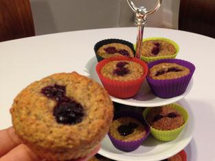 Blackberry & Licorice Protein Muffins
