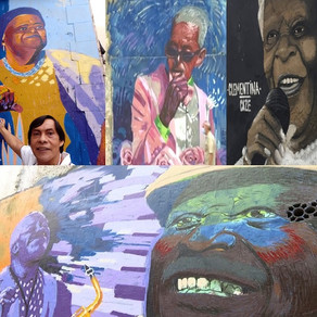 Pintura de Mãe Beata e de personalidades negras embelezam os muros do Rio