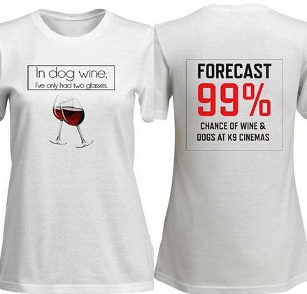 Women's Dog Wine Shirt