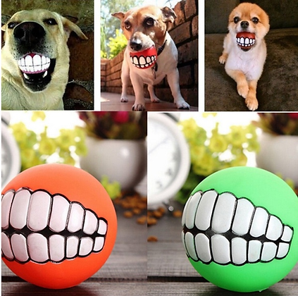 Silicon Dog Ball with Teeth
